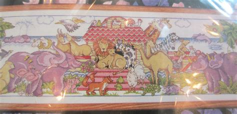 noah s ark boat with animals cross stitch kit design works all aboard noah s ark