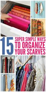 organizing or organising 15 super simple ways to organize scarves
