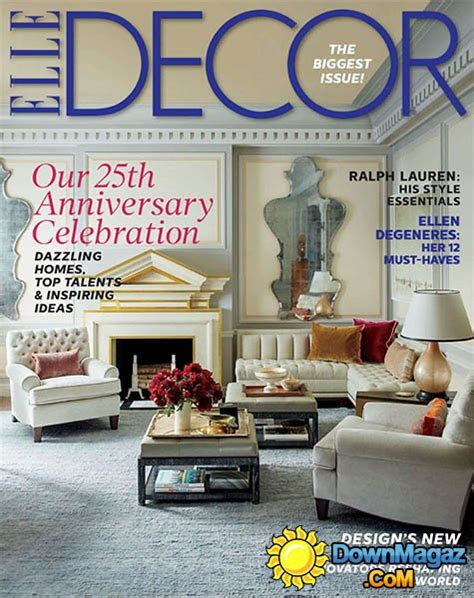 home decor magazines usa elle decor usa september 2014 187 download pdf magazines