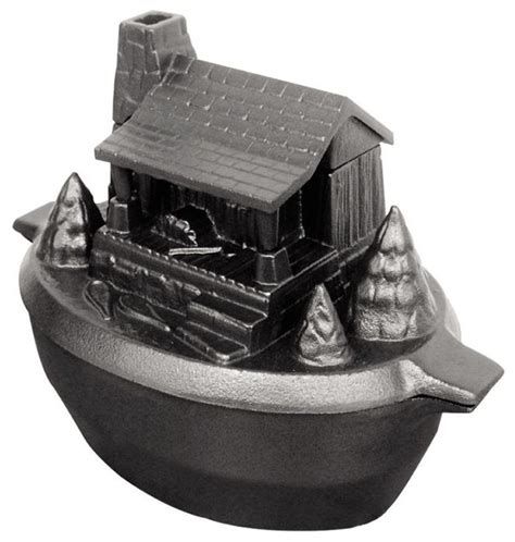 Log Cabin Wood Stove Steamer by Porcelain Coated Cast Iron Log Cabin Steamer Traditional