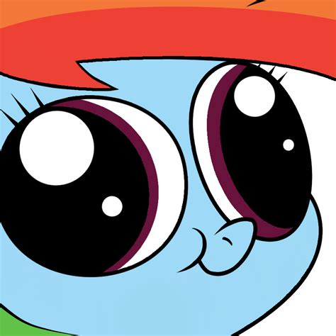 rainbow dashs face   pony friendship  magic