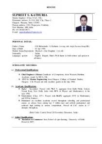 graduate resume format india sle resume for marine engineer fresh graduate