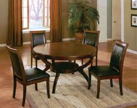 Round Wood Dining Room Table Sets by Walnut Wood Round Dining Table W 4 Chairs