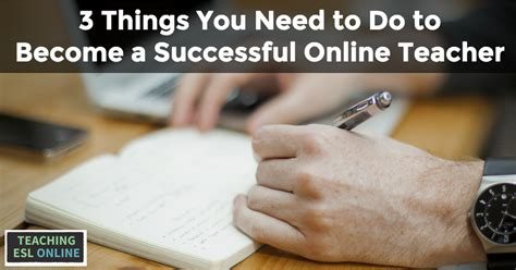 three things you need to do to become a successful