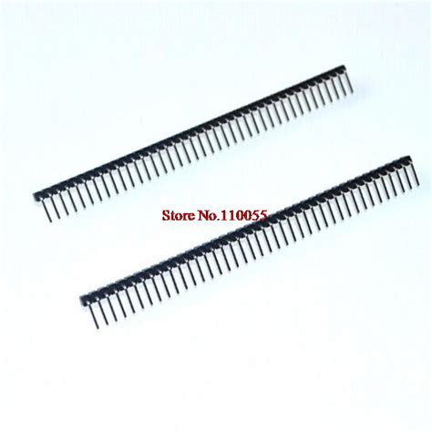 Single Row Right Angle Header 1x40 Pin 10pcs 1x40 pin 2 54mm right angle single row pin