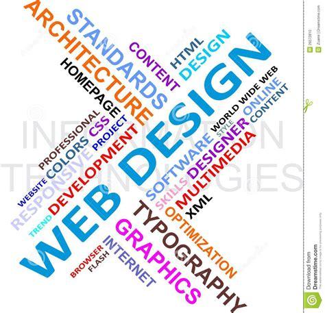 design word word cloud web design stock photo image 26572810