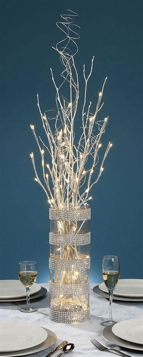 glitter branches for centerpieces awesome and creative diy centerpiece hative