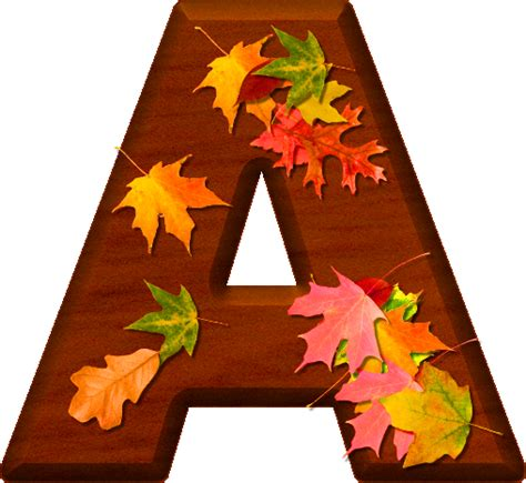 printable leaves with letters presentation alphabets cherry wood leaves letter a