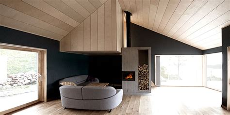 cabin straumsnes blend  traditional  modern