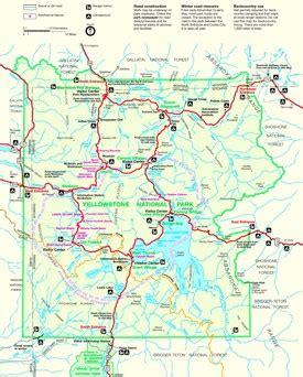 yellowstone maps | usa | maps of yellowstone national park