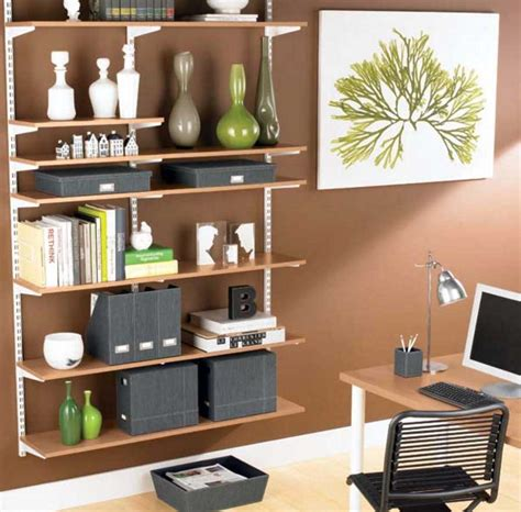 home office wall shelves with adjustable design ideas