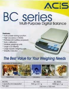 Timbangan Digital Acis Bc 5000 indogama acis digital balance bc series
