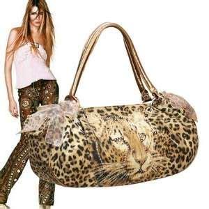 Totebag Leopard Brown Atau Purple coach ocelot leopard print purple black tote hobo bag purse