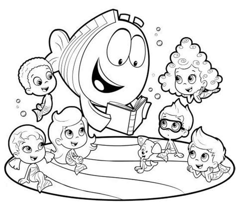 funny deema and nonny from bubble guppies coloring page 25 free printable bubble guppies coloring pages