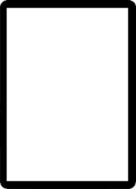 magic card template png image border black png magic the gathering wiki
