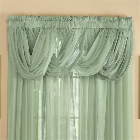 sheer curtains with valance sheer scoop valance curtains 2 pc by collections etc