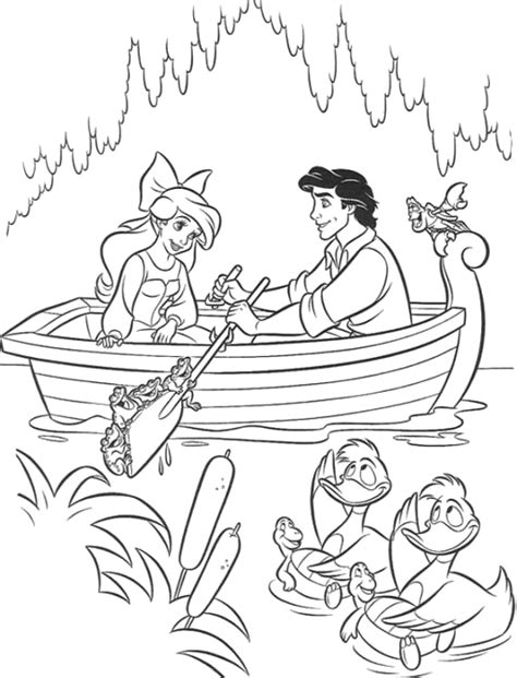 coloring pages ariel and eric disney princess ariel and eric coloring pages rsad