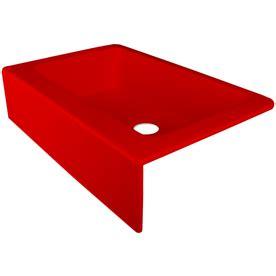 Red Kitchen Sink | shop corstone primrose gloss red single basin acrylic