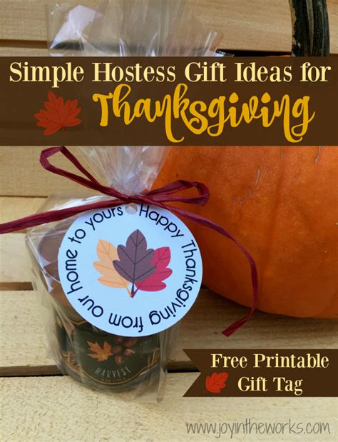 hostess gift ideas simple hostess gift ideas for thanksgiving joy in the works