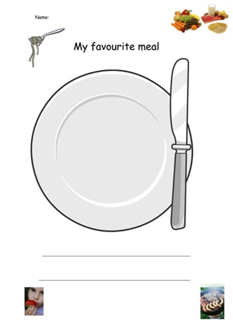 my favourite meal plate by serena4444 teaching resources