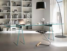 Modern Glass Office Desks Nella Vetrina Tonelli Kasteel Modern Italian Glass Desk