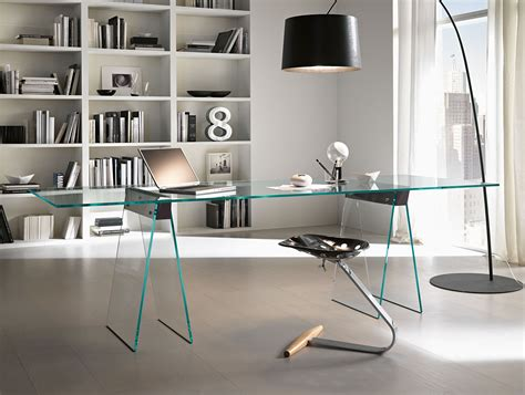 Modern Glass Desk Nella Vetrina Tonelli Kasteel Modern Italian Glass Desk
