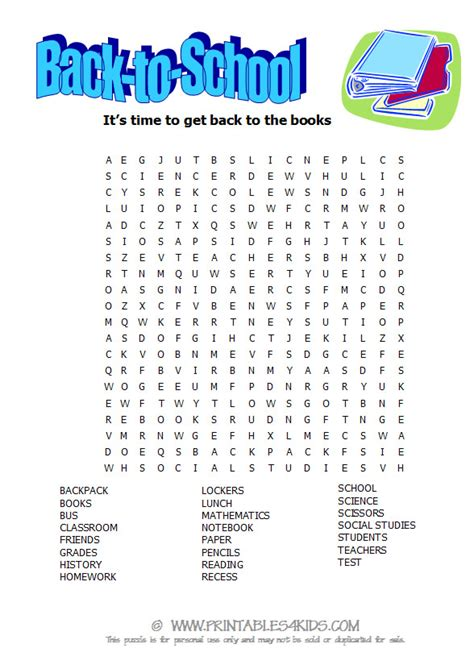 Sch Search School Word Search Images