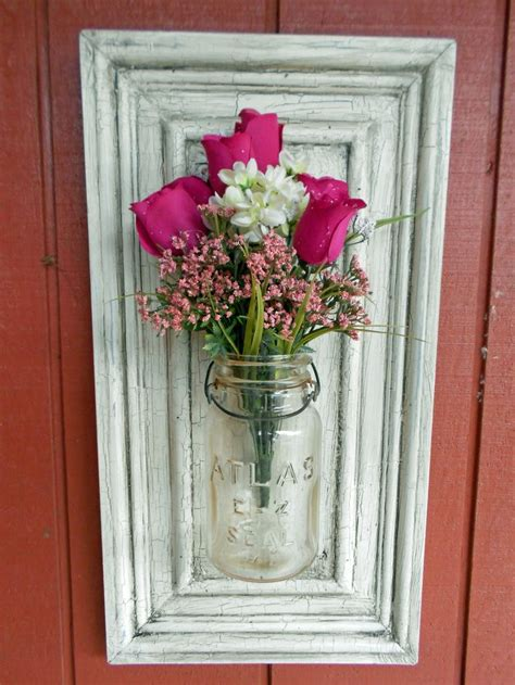 fall wall sconce individual mason jar sconce flower details about shabby yet chic primitive folk art atlas
