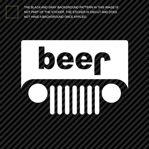 jeep beer decal 2x jeep beer sticker die cut self adhesive vinyl decal ebay