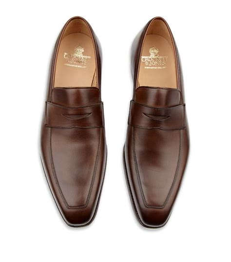 crockett and jones loafers crockett and jones merton leather loafer in brown for