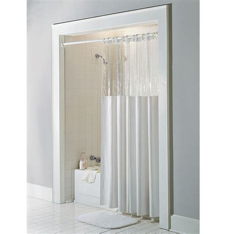 the shower curtain the anti microbial shower curtain hammacher schlemmer