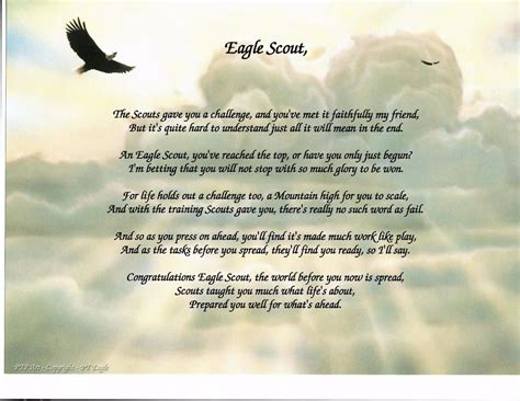 names of all eagle scouts eagle scout boy scout scout poem prayer personalized