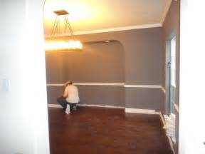 Dining rooms with chair rail paint ideas simple home decoration