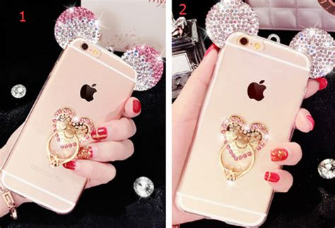 Glitter Skin With Finger Ring Samsung Galaxy J3 2015 lanyard samsung a5 a7 2016 cases bling j5 j7 2016 mouse ear phone finger