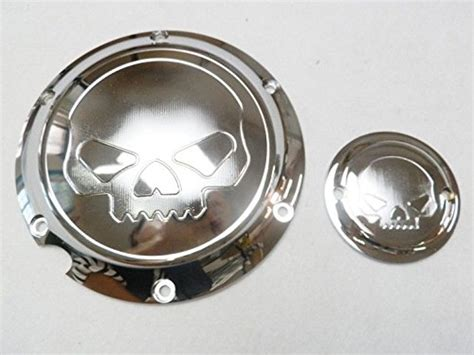 chrome skull derby timing timer cover for harley xl