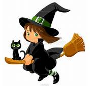 Witch Black Cute Clipart  Kid