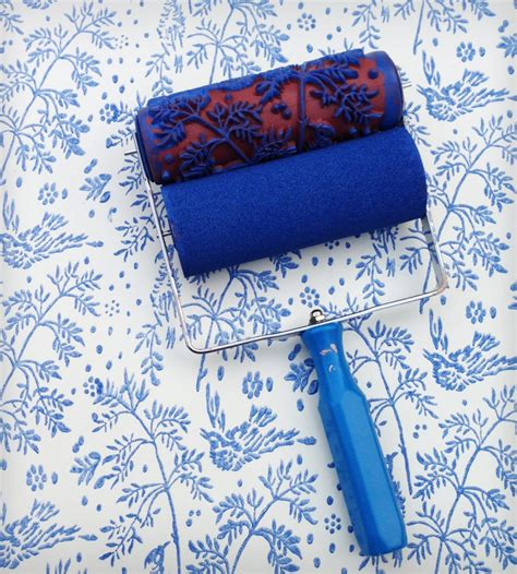spring bird design patterned paint roller applicator