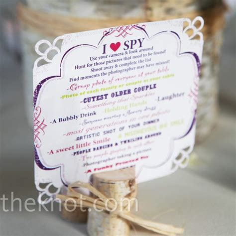 Wedding Reception Games For Guests I Spy Game Ideas