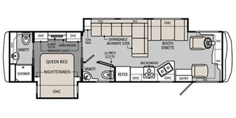 monaco rv floor plans 2012 monaco la palma series m 36dbd ford specs and