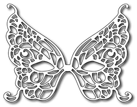 butterfly mask template frantic ster precision die butterfly mardi gras mask