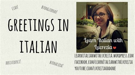in italian learn italian greetings lesson 14 beginner