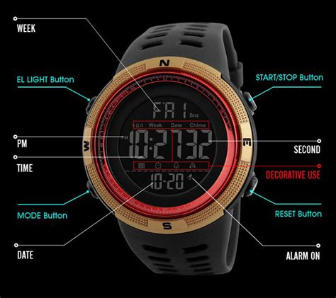 Jam Tangan Skmei Dg1251 skmei jam tangan digital pria dg1251 black