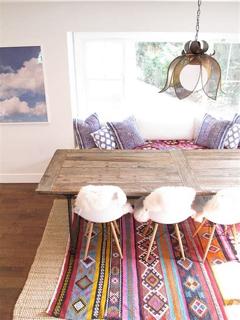 Bohemian Dining Table Bohemian Style Dining Rooms