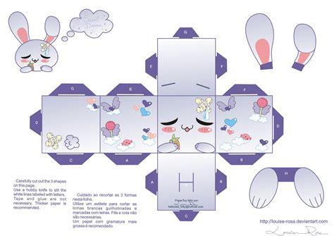 cute kawaii papercraft la casita de caro conejito kawaii papercraft 3