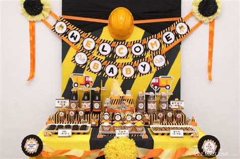 Construction Baby Shower Ideas by Best 25 Construction Baby Showers Ideas Only On