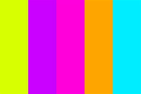 neon color palette in neon color palette