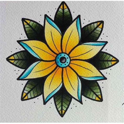 old school flower tattoo designs flower flash kysa ink design