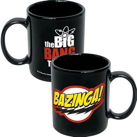 Asmodee Cups by Big Theory Bazinga Logo Black Coffee Mug Icup Big Theory Mugs At Entertainment