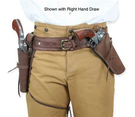 Blackhawk Set Brown rh cross draw leather guns holsters and