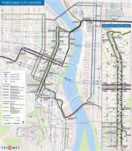 portland oregon transit map portland trimet maplets